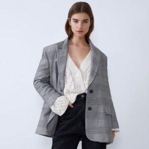 Zara suit blazer plaid😍